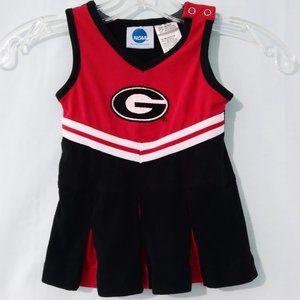 NCAA Infant Georgia Cheerleader Dress Costume 12mo